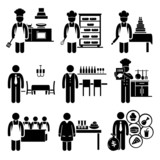 Fototapety Food Culinary Jobs Occupations Careers