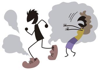 靴の匂いに悶絶する女性