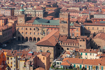 Bologna - Outlook from Torre Asinelli to Palazzo Podesta
