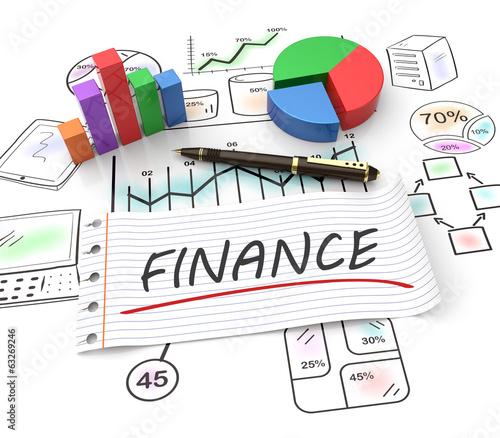 canvas print picture Finance concept