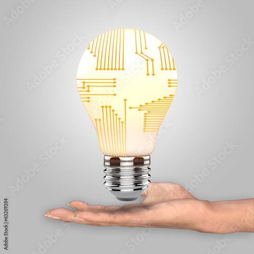 canvas print picture Bulb a as concept