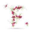 Floral letter F for your design