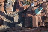 Bologna - Look down from Torre Asinelli to Torre Garisenda