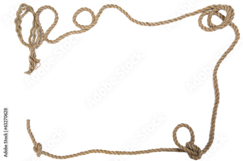 frame from a rope the rectangular