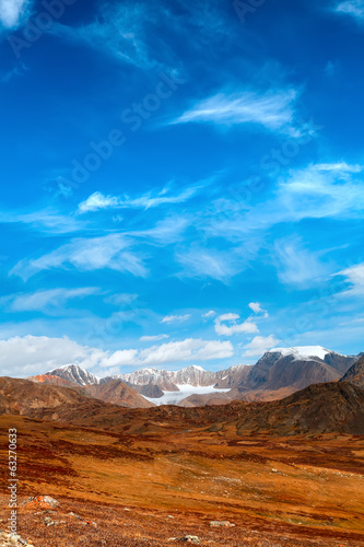 snow mountains desert