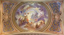 Bolonia - fresk sufitowy w barokowy kościół św Marii Magdaleny