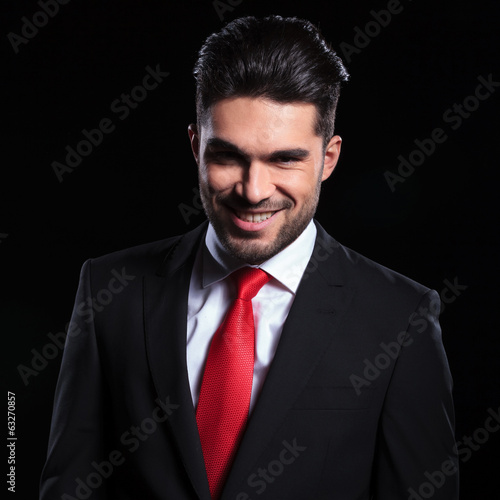 business man with evil smile