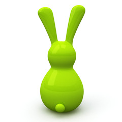 Green Easter bunny, 3d