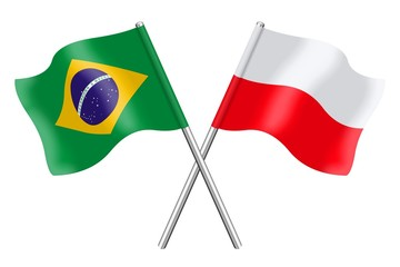Flags: Brazil and Poland