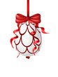 Red easter egg hanging on a ribbon