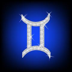 Zodiac Gemini sign  icon