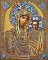 Venice - Icon of Madonna in Saint Martin on Burano church