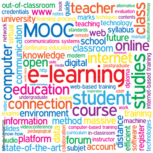 """E-LEARNING"" Tag Cloud (education training diploma degree mooc)"