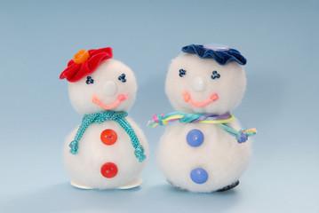 couple of syntepon  snowmen