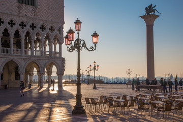 Venice -  Doge palace and Saint Mark square