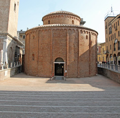 Romanesque church named Rotonda di San Lorenzo in Mantua in Ital