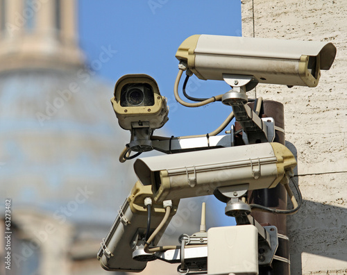 surveillance camera to see all main points of the great metropol