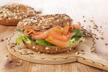 Salmon bagel.