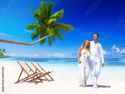 Couple Getting Marriage in the Beach