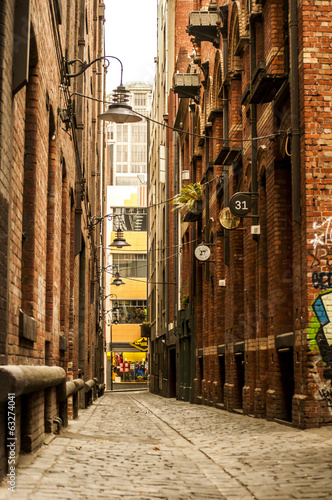 Cobbled pathways and lanes of Melbourne