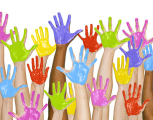 Group of Colorful Hands