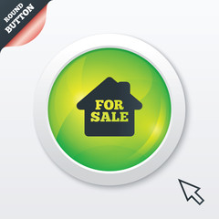 For sale sign icon. Real estate selling.