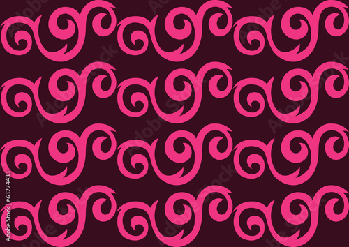 Pink ornate seamless pattern