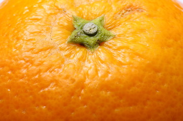 Orange fruit texture