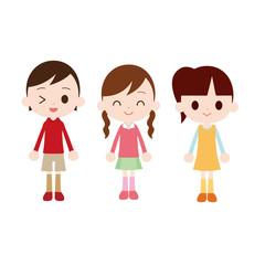 小学生の女の子 3人組