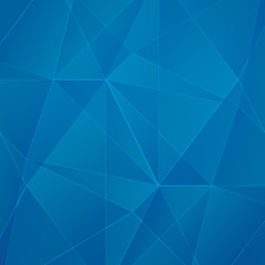 Abstract blue geometric business vector background