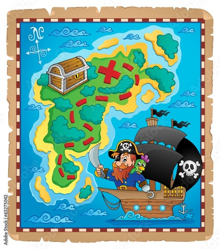 Pirate map theme image 1