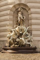 Vienna, Austria. Architectural details of Hofburg