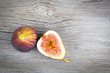 fresh figs on a wooden background