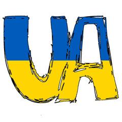 UA Flag Text