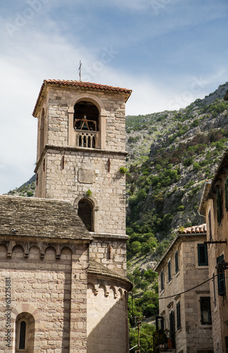 Bell Tower by Kotor Mountain