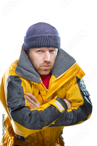 Man in yellow jacket