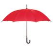 Opened red umbrella over white - 63277276