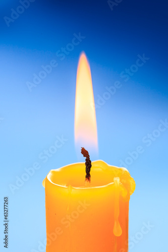 Candle flame closeup