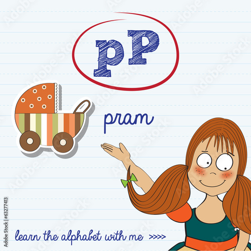 alphabet worksheet of the letter p