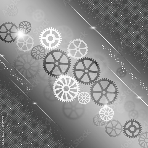 Gears Progress Abstract Background