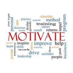 Motivate Word Cloud Concept