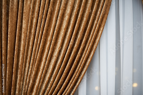 gold  Luxury curtain