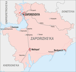 Map of Zaporizhia Oblast