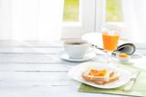 Fototapety Continental breakfast - coffee, orange juice, toast