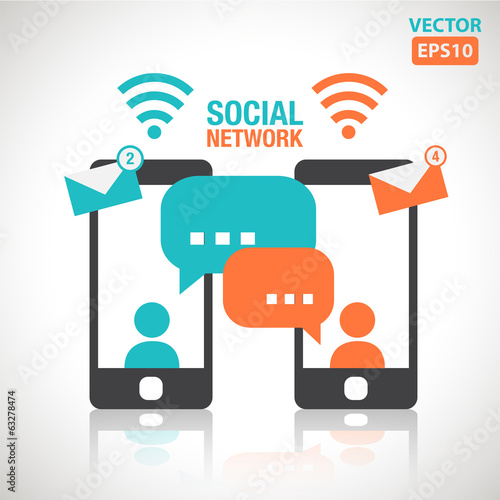 Illustration of social media messaging