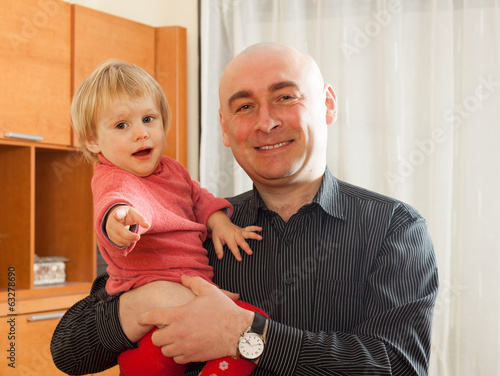 Dad with  his daughter
