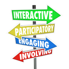 Interactive Participatory Engaging Involving Arrow Road Signs