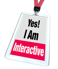 Yes I Am Interactive Badge Name Tag Group Participation