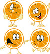funny orange cartoon wit hands and legs isolated