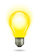 Glowing yellow light bulb as inspiration concept - 63279867